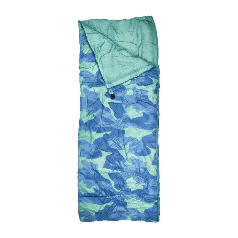 Slaapzak - blauw/groen - 190x75 cm