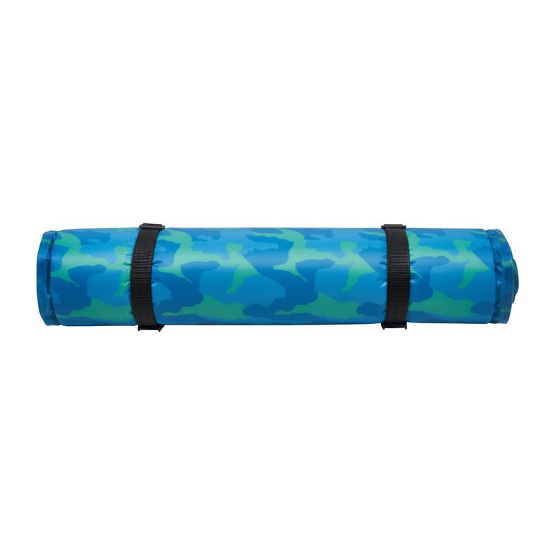 Slaapmat zelfopblazend - groen/blauw - 195x60x2,5 cm