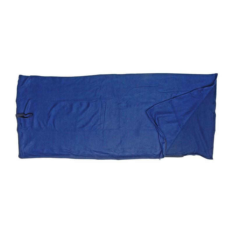 Slaapzak fleece - 190x80 cm - donkerblauw