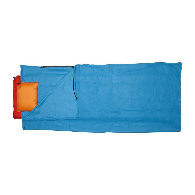 Slaapzak fleece - 190x80 cm - lichtblauw