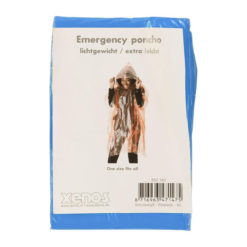 Emergency poncho - blauw
