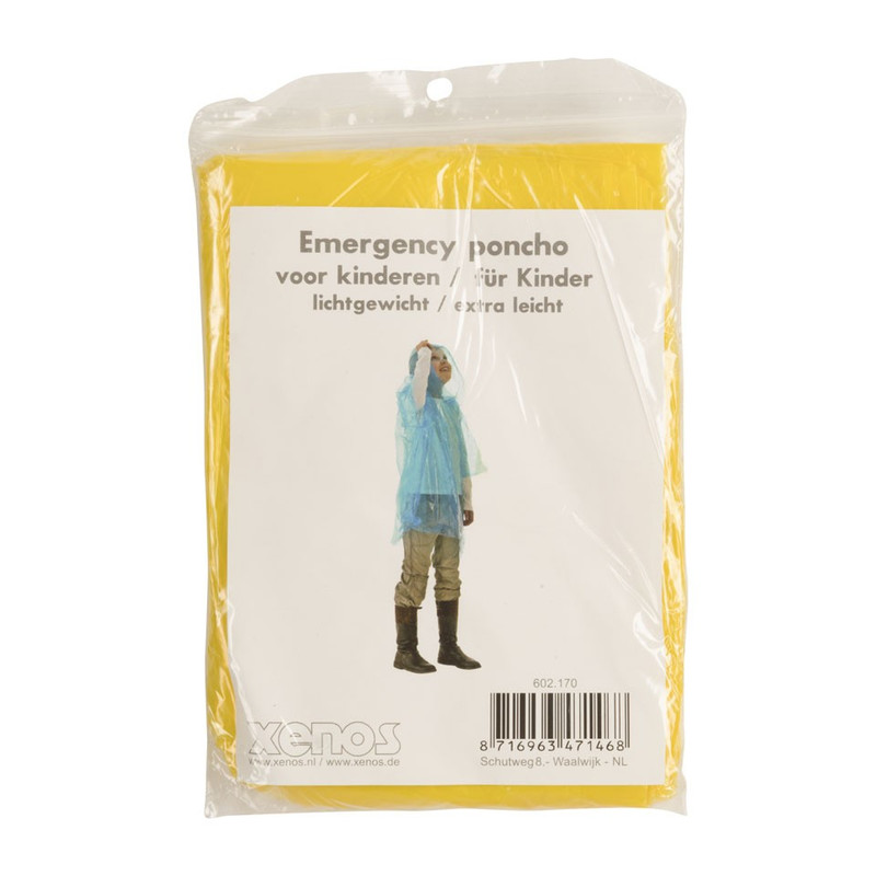 Emergency poncho kids - geel