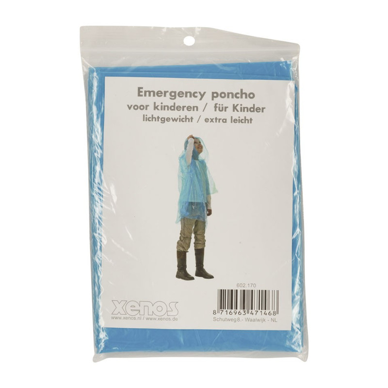 Emergency poncho kids - lichtblauw