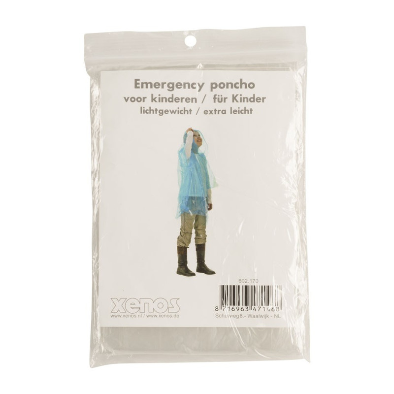 Emergency poncho kids - transparant