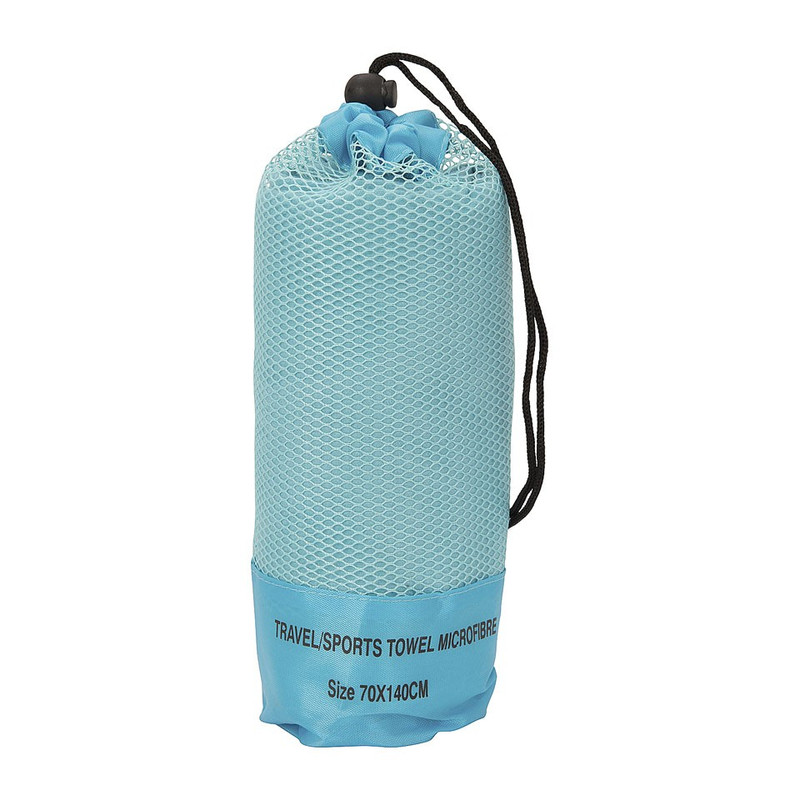 Travel/sporthanddoek - 70x140 cm - lichtblauw