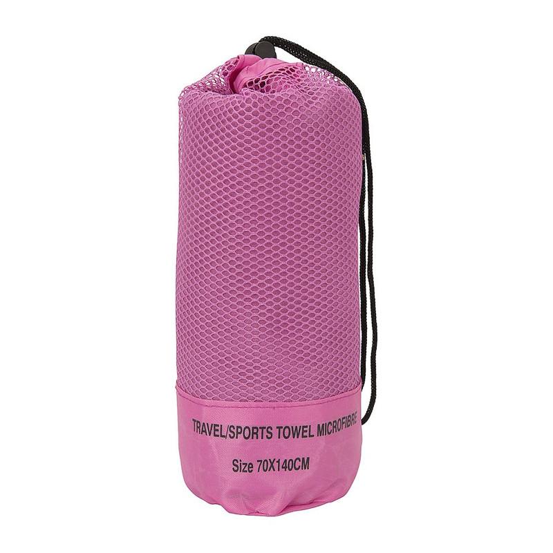 Travel/sporthanddoek - 70x140 cm - roze