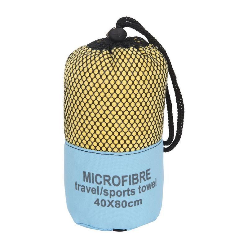 Travel/sporthanddoek - 40x80 cm - geel