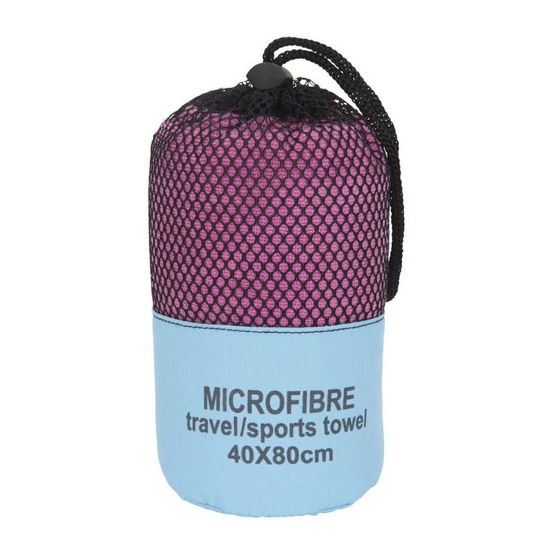 Travel/sporthanddoek - 40x80 cm - roze