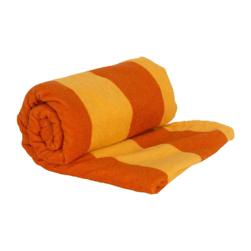 Travel/sport/strandhanddoek - 70x140 cm - oranje