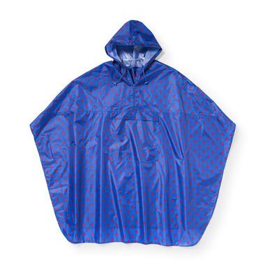 Travel poncho dots - blauw
