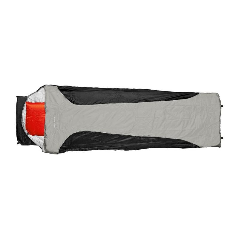 Slaapzak microfiber - 200x70 cm - zwart/grijs