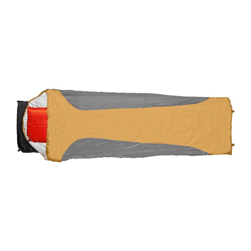 Slaapzak microfiber - 200x70 cm - zwart/oranje