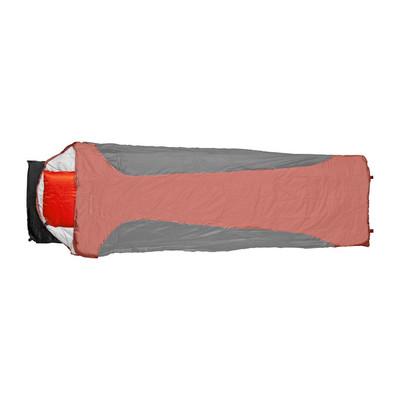 Slaapzak microfiber - 200x70 cm - zwart/rood