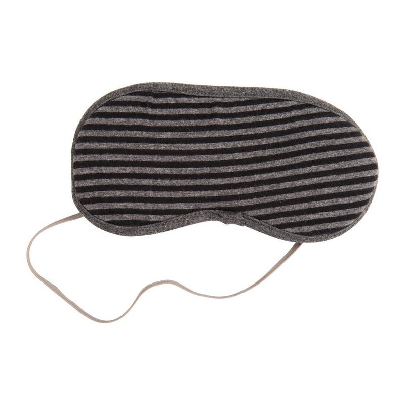 Nekkussen + oogmasker - zwart/grijs