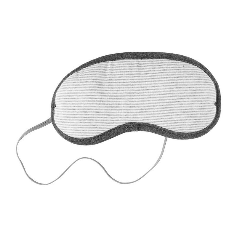 Nekkussen + oogmasker - wit/grijs