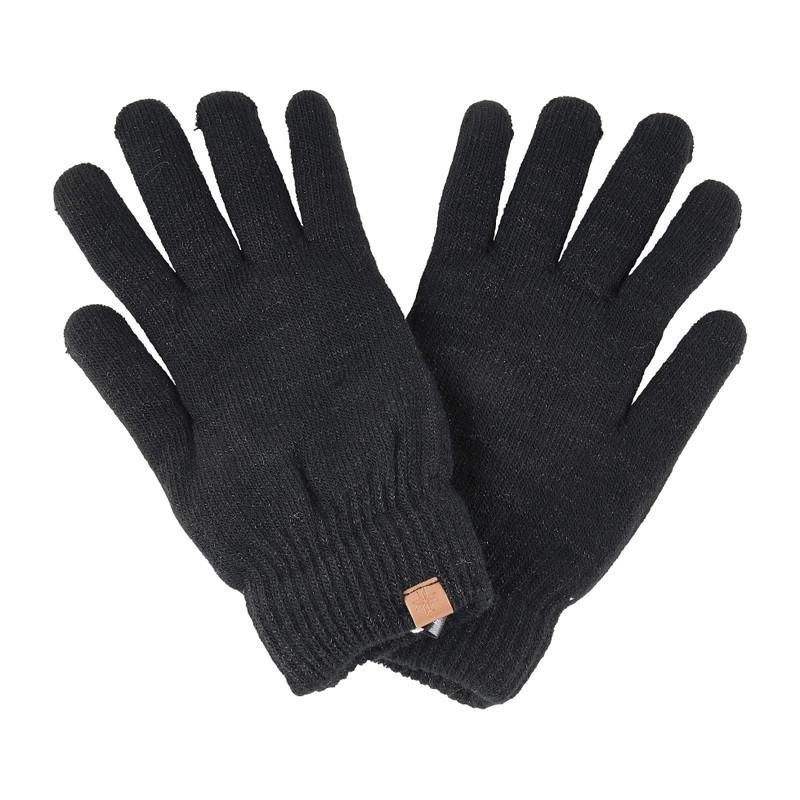 Dames handschoenen zwart glitter