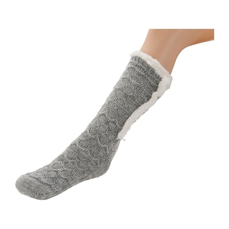 Huissokken gemeleerd - maat 36-38 - grijs