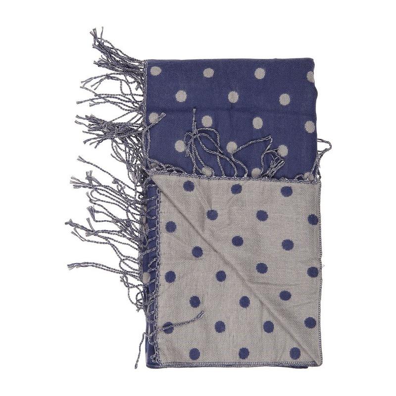 Sjaal stippen - donkerblauw