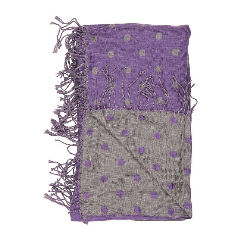 Sjaal stippen - paars