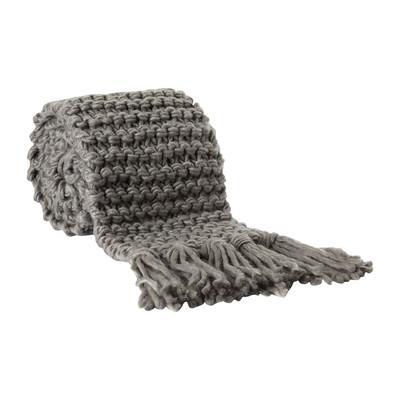 Sjaal gebreid - grijs