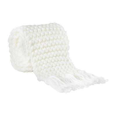 Sjaal gebreid - wit