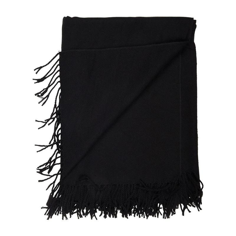 Omslagdoek met split - zwart