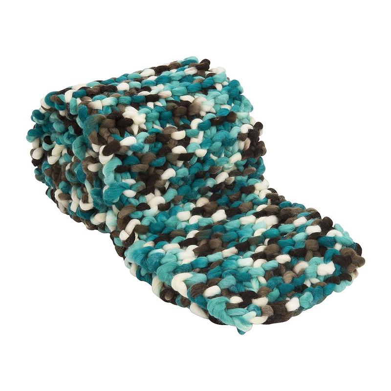 Sjaal grof gebreid - blauw/grijs