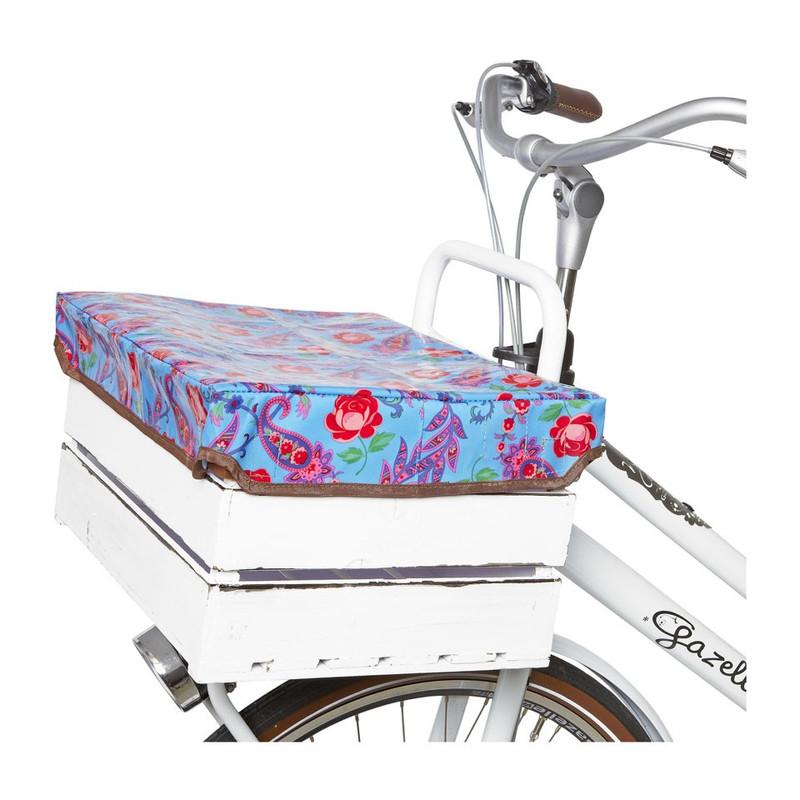 Afdekhoes voor fietskrat blauw