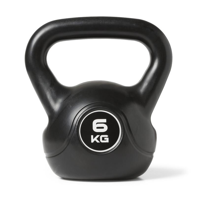Kettlebell 6 kg - zwart
