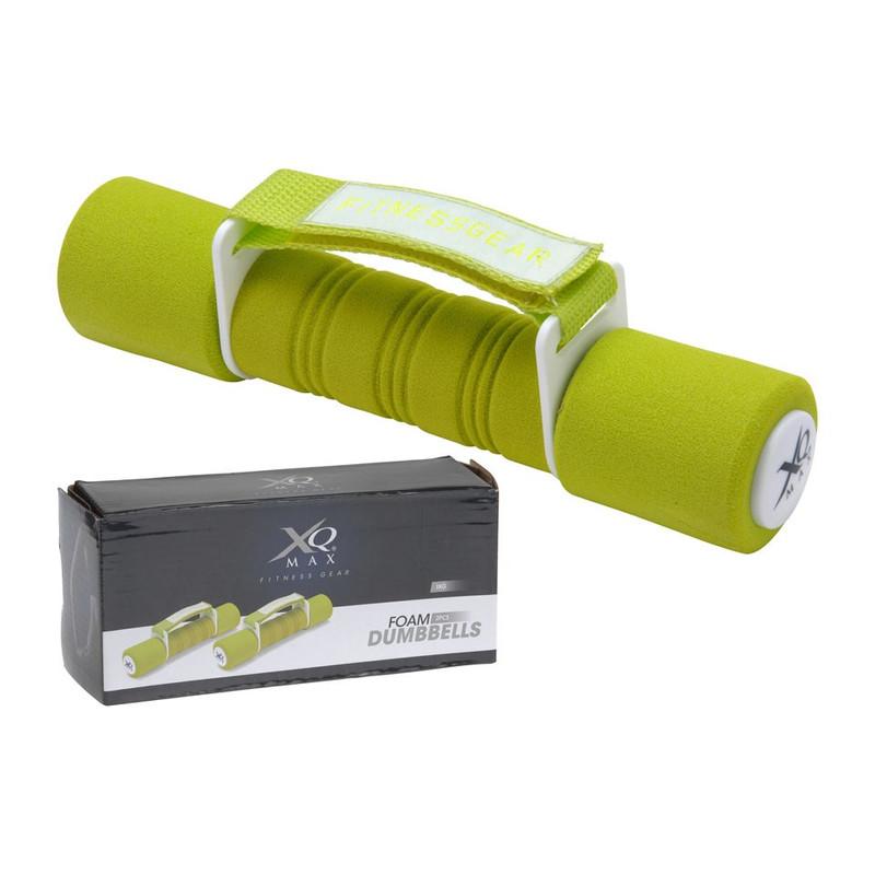 XQ Max Foam Dumbbels - 2 x 1 kg - groen