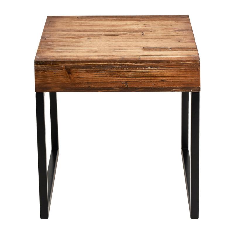 Bijzettafeltje hout/metaal - 40x40x40 cm