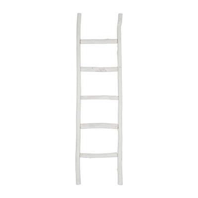 Houten Ladder Xenos.Decoratieve Ladder 170 Cm Wit Xenos
