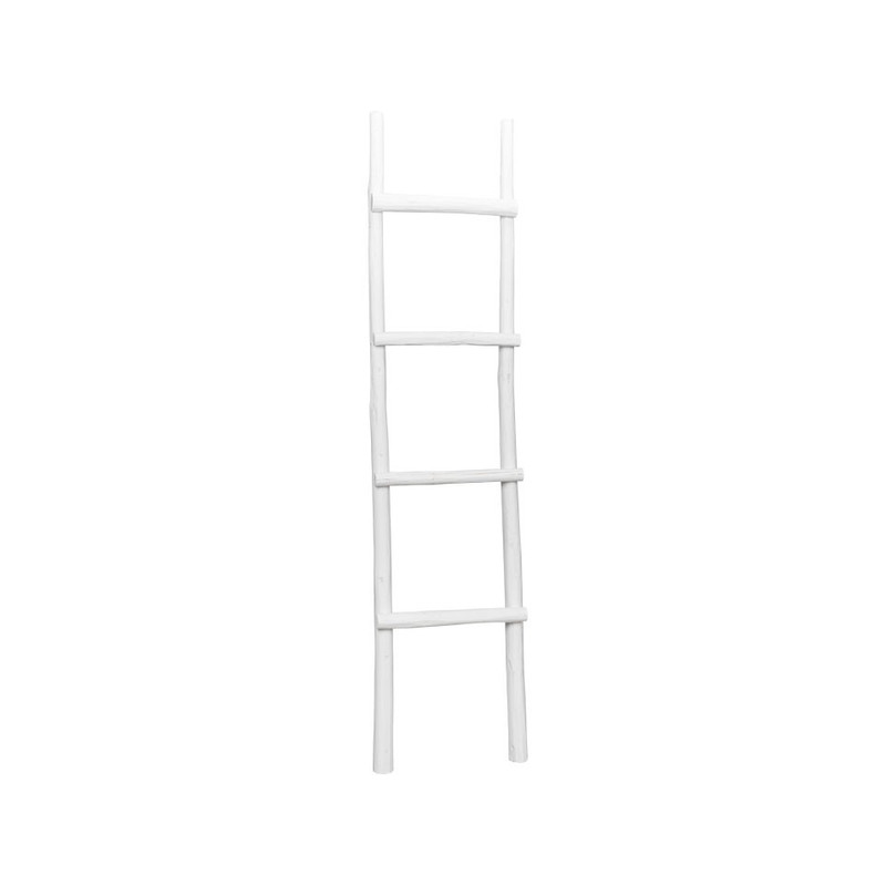 Decoratieve ladder - wit