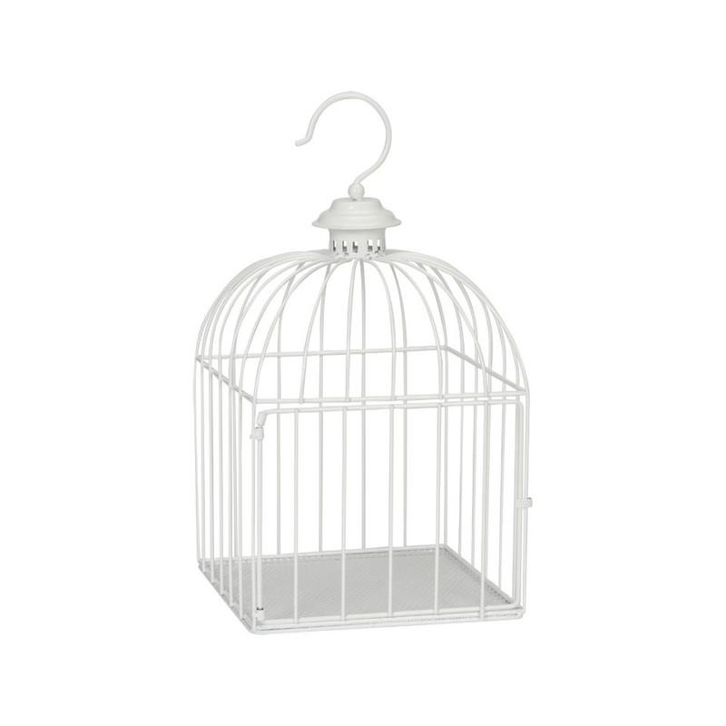 Vogelkooi vierkant - 23x42 cm - wit