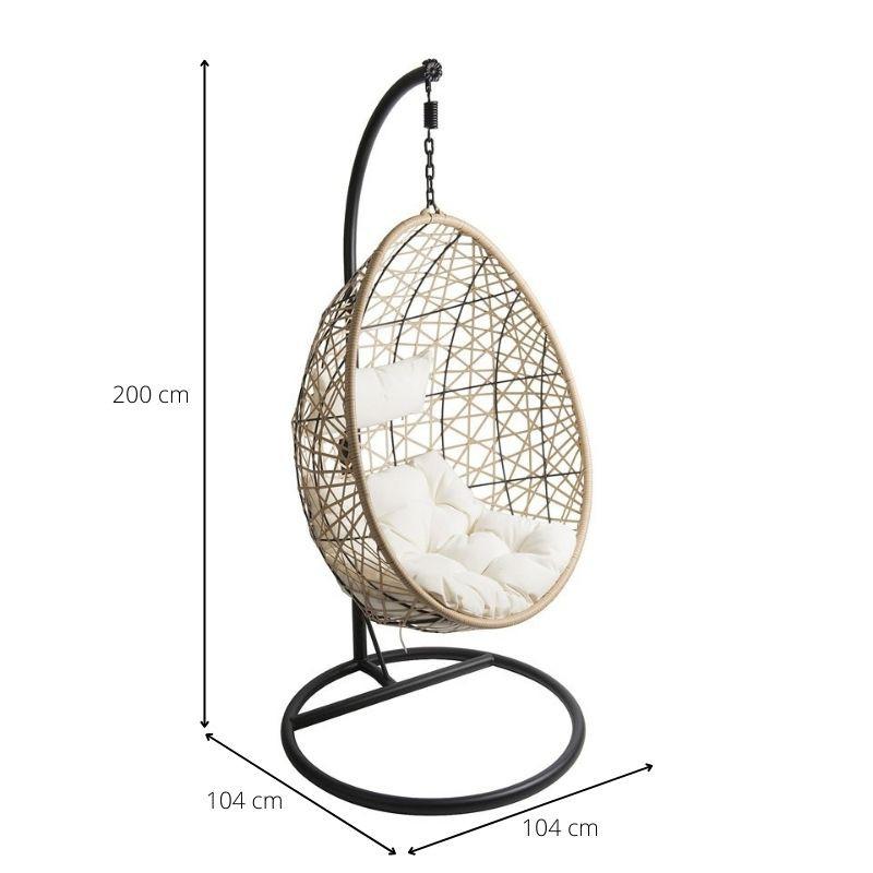 Hangstoel swing naturel