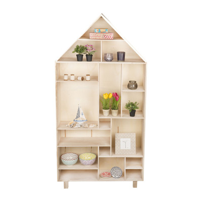 vakkenkast houten huis 150x76x20 cm