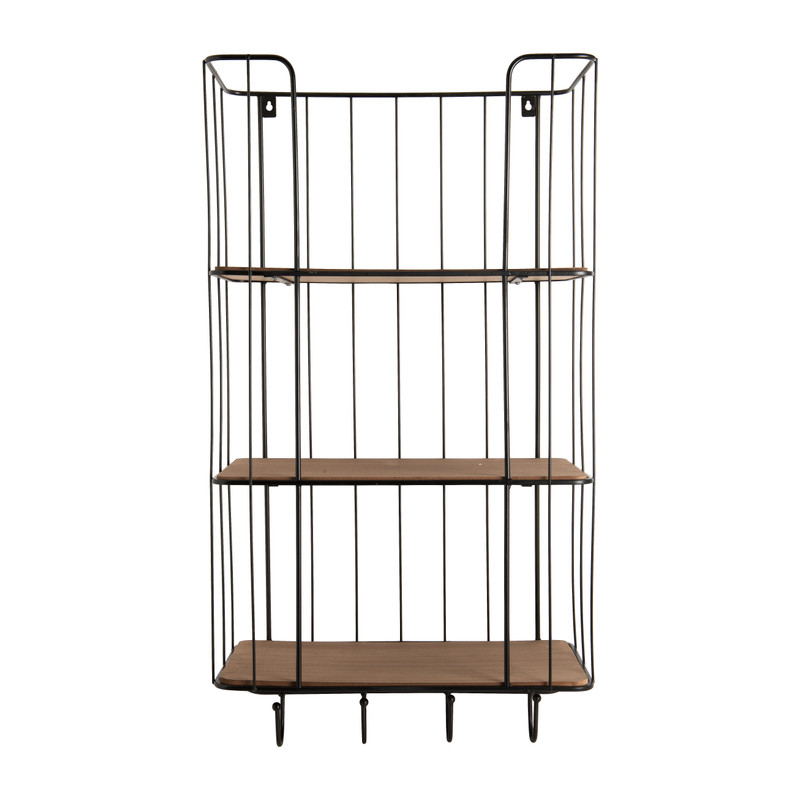 Wand-bakkerskast met 3 planken - 40x20x73 cm