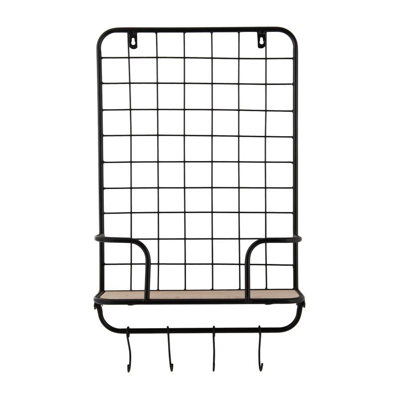 Wandrekje met plank en haken – 40x12x53 cm