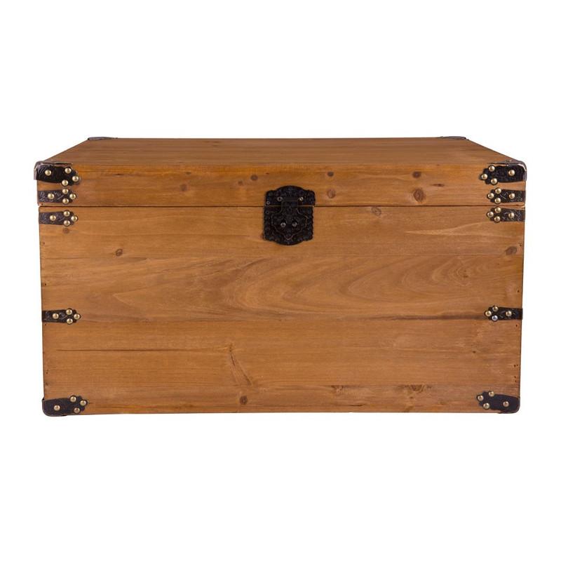 Houten kist - lichtbruin - 69x45x36 cm