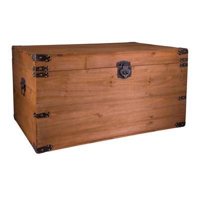 houten kist lichtbruin 76x52x42 cm