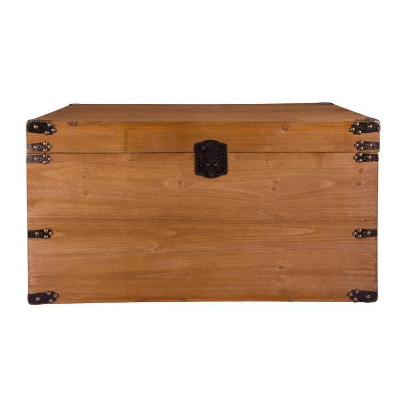 Houten kist - lichtbruin - 76x52x42 cm