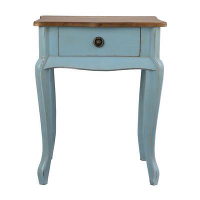 Sidetable hout - 44x32x57 cm - blauw