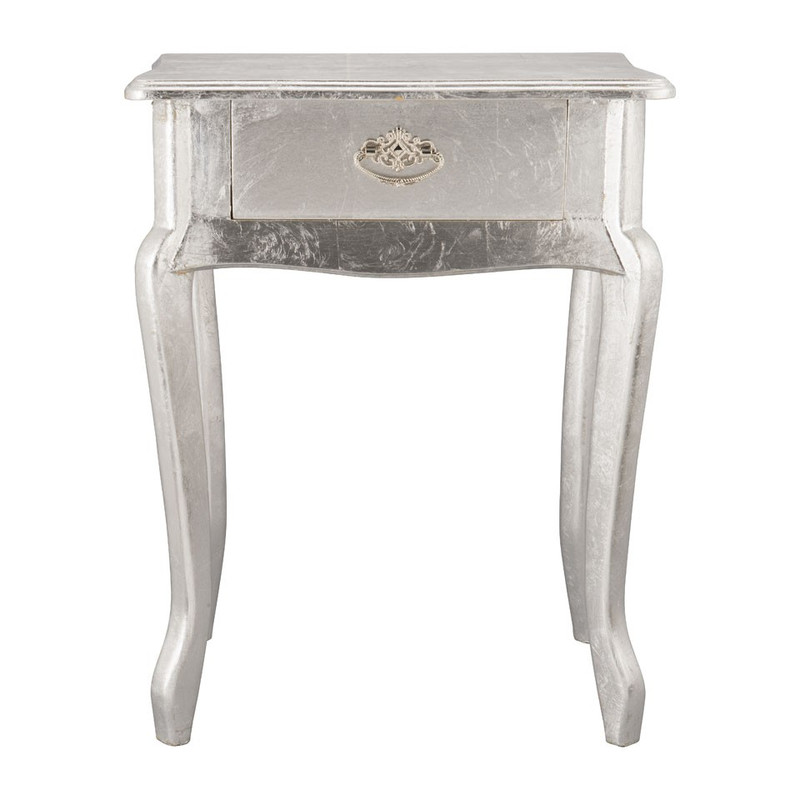 Sidetable - 44x32x57 cm - zilver