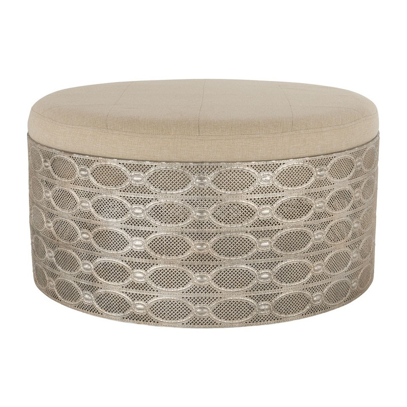 Poef medina - antic zilver - 78x42 cm