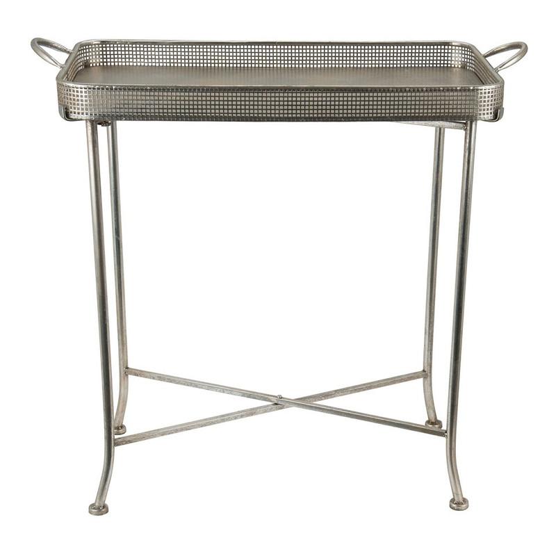 Butlertray antic zilver - 75x36x75 cm