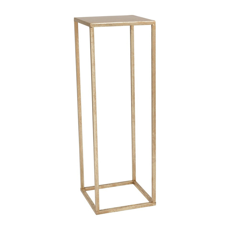 Bijzettafeltje antic gold - 23.5x23.5x70 cm