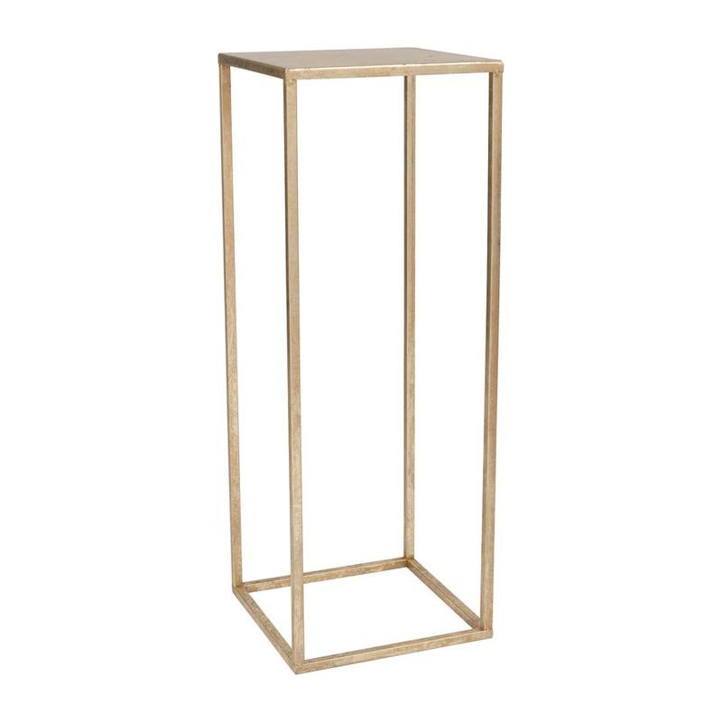 Bijzettafeltje antic gold - 27x27x75 cm