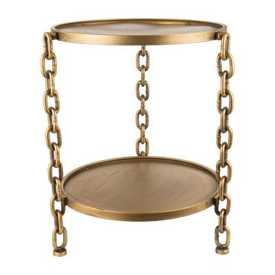 Bijzettafeltje Chains -   goudkleurig - 45x52 cm
