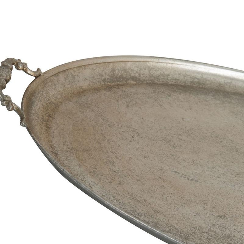Serveerschaal ovaal - zilver - 69x43