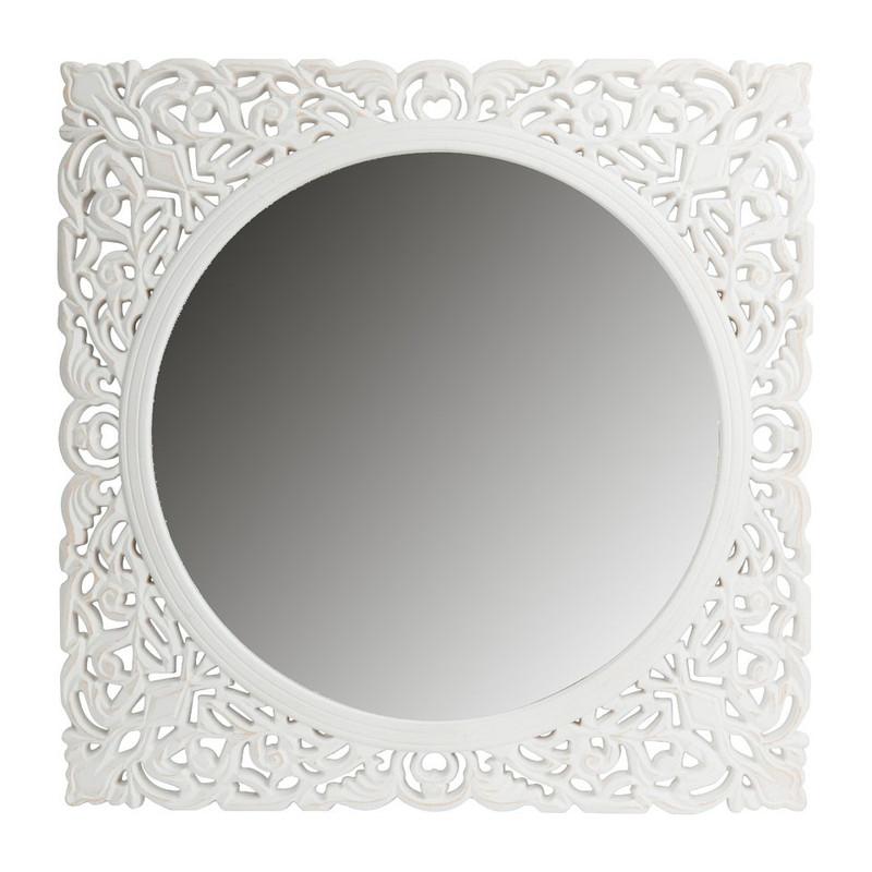 Spiegel  Fez - 56x56 cm - wit